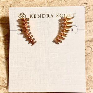 NWT KENDRA SCOTT EAR CLIMBERS ROSE GOLD EARRINGS